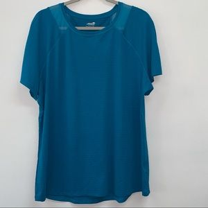 Avia Short Sleeve Blue Top Sz XL